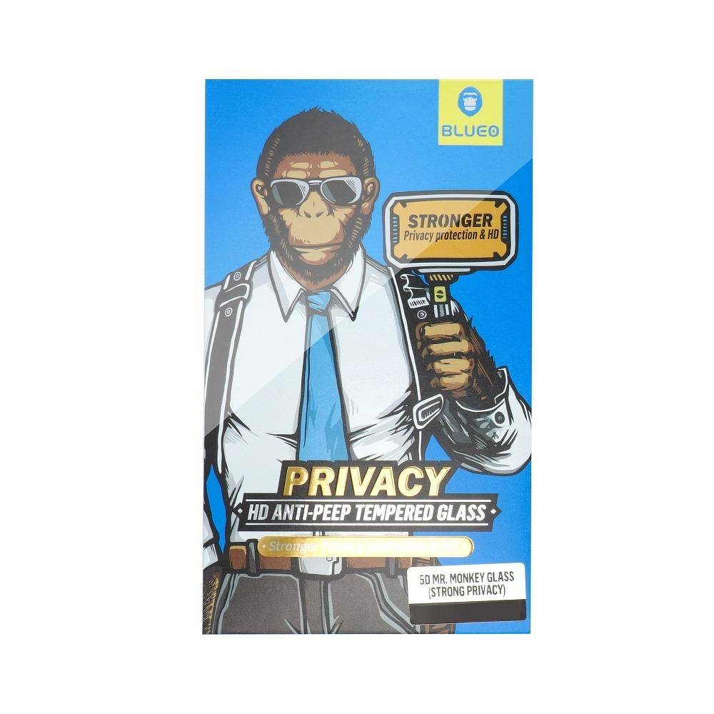 5D Mr. Monkey Glass – Apple iPhone 13 black (Strong Privacy)