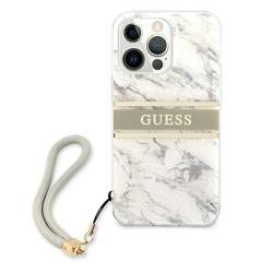 """Guess GUHCP13LKMABGR iPhone 13 Pro / 13 6.1"""" grey/grey hardcase Marble Strap Collection"""