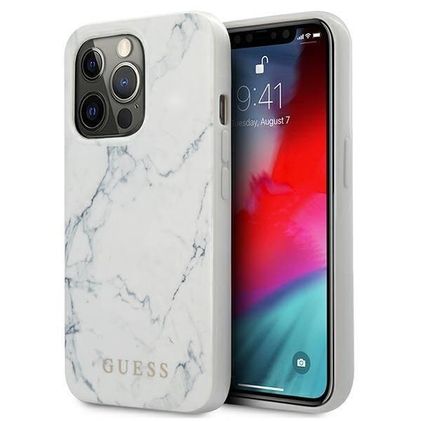 "Guess GUHCP13XPCUMAWH iPhone 13 Pro Max 6.7"" white/white hardcase Marble"