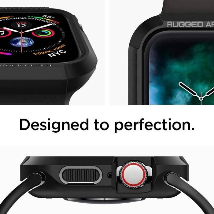 Etui SPIGEN Robuste Rüstung Apple Watch 4 (44 mm) Schwarzes Czarne-Gehäuse