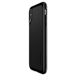 Fall SPIGEN NEO Hybrid Apple iPhone X JET Schwarz + Glas SPIGEN