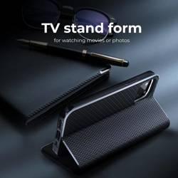 Forcell LUNA Book Carbon Holster für SAMSUNG Galaxy S22 Ultra schwarz