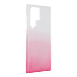 Forcell SHINING Hülle für SAMSUNG Galaxy S22 Ultra transparent/rosa