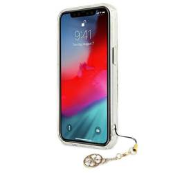 GUESS Apple iPhone 13 Pro Max 4G Gold Charms Sammlung klar Hardcase