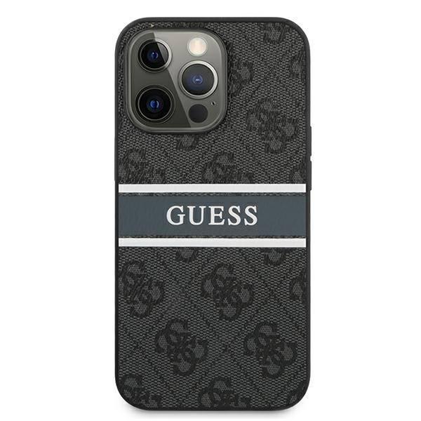 "Guess GUHCP13L4GDGR iPhone 13 Pro / 13 6.1"" grau/grau HartschalenHülle 4G Stripe"
