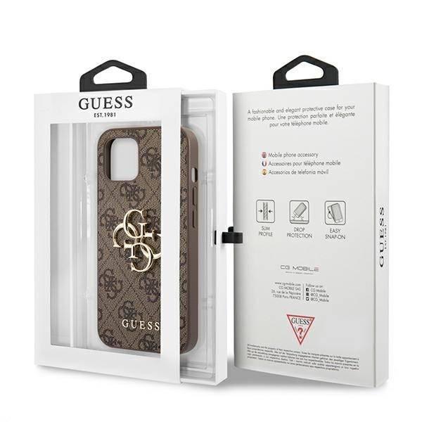 "Guess GUHCP13M4GMGBR iPhone 13 6.1"" braun/braun Hartschale 4G Big Metal Logo"