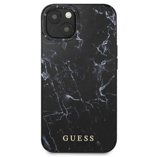 "Guess GUHCP13MPCUMABK Apple iPhone 13 6.1"" schwarz/schwarz Hardcase Marmor"