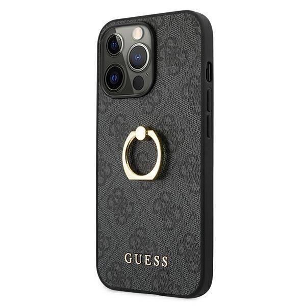"Guess GUHCP13X4GMRGR Apple iPhone 13 Pro Max 6.7"" grau/grau Hardcase 4G mit Ringständer"