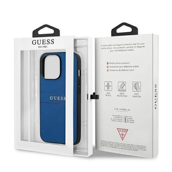 "Guess GUHCP13XPSASBBL iPhone 13 Pro Max 6,7"" blau/blau Saffiano Armband"