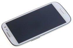 Oryginalny Dotyk Digitizer Wyświetlacz LCD Samsung i9300 Galaxy S3 Front Obudowy Niebieska Szybka