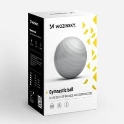 [PO ZWROCIE] Wozinsky piłka gimnastyczna 65 cm do ćwiczeń rehabilitacyjna srebrny