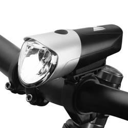 [PO ZWROCIE] Wozinsky przednia lampka lampa rowerowa latarka ładowana na micro USB czarno-srebrny (WFBLB1)