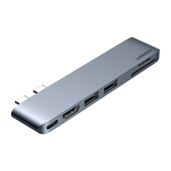Adapter 6 w 2 UGREEN CM380 Hub USB-C dla MacBook Air / Pro