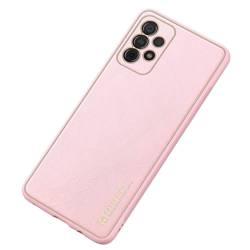 Dux Ducis Yolo eleganckie etui pokrowiec ze skóry ekologicznej Samsung Galaxy A52 5G / A52 4G różowy