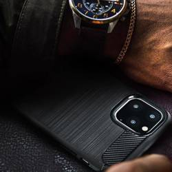 ETUI Futerał Forcell CARBON do IPHONE 13 PRO MAX czarny CASE