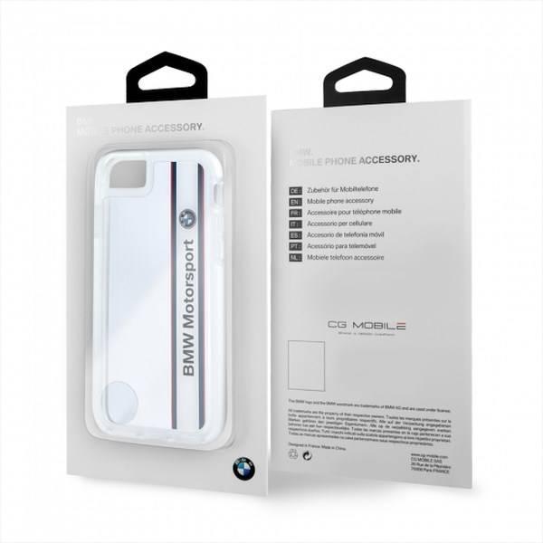 Etui BMW Apple iPhone 7 SHOCKPROOF Bezbarwny Biały Case
