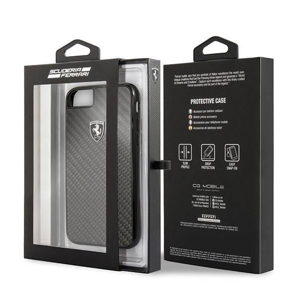 Etui FERRARI Apple iPhone 7 8 Carbon Heritage Czarny Case