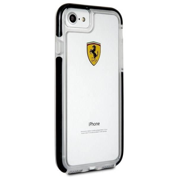 Etui FERRARI Apple iPhone 7 8 Shockproof Bezbarwny Czarny Case