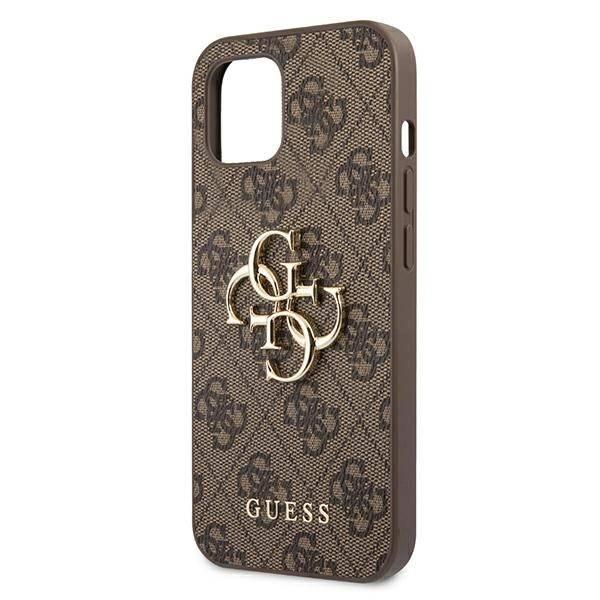 Etui GUESS Apple iPhone 13 4G Big Metal Logo Brązowy Hardcase