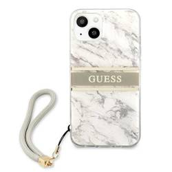 Etui GUESS Apple iPhone 13 Marble Strap Collection Szary Hardcase