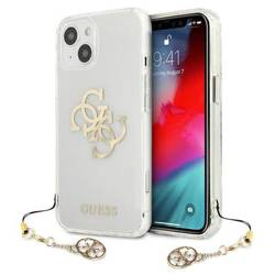 Etui GUESS Apple iPhone 13 Mini 4G Gold Charms Collection Bezbarwny Hardcase
