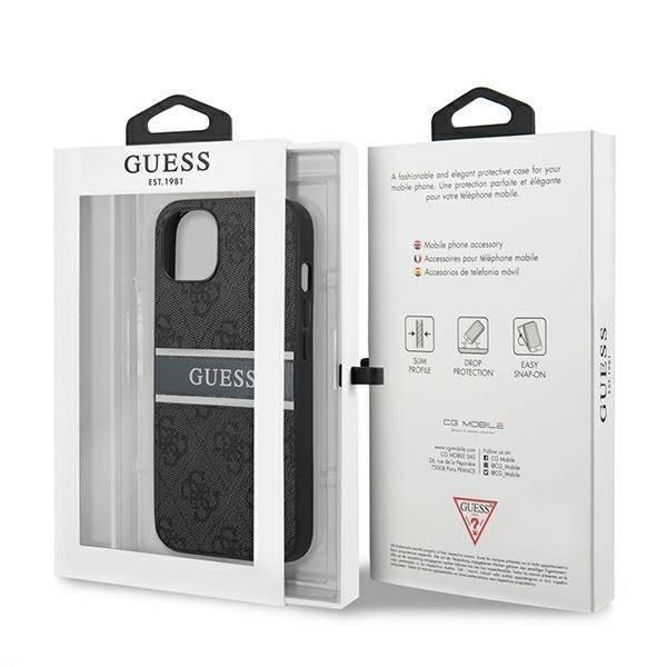 Etui GUESS Apple iPhone 13 Mini 4G Stripe Szary Hardcase