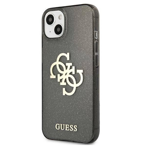 Etui GUESS Apple iPhone 13 Mini Glitter 4G Big Logo Czarny Hardcase