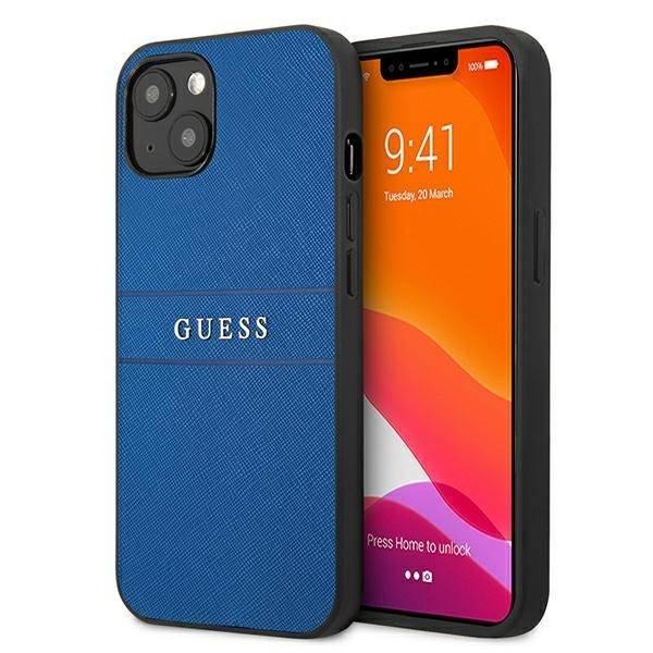 "Etui Guess GUHCP13MPSASBBL iPhone 13 6,1"" niebieski/blue Saffiano Strap CASE"