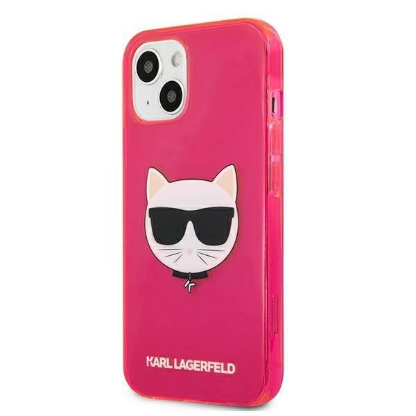 Etui KARL LAGERFELD Apple iPhone 13 Glitter Choupette Fluo Różowy Hardcase