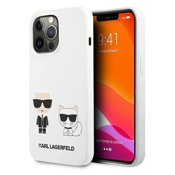 Etui KARL LAGERFELD Apple iPhone 13 Pro Max Silicone Karl & Choupette Biały Hardcase