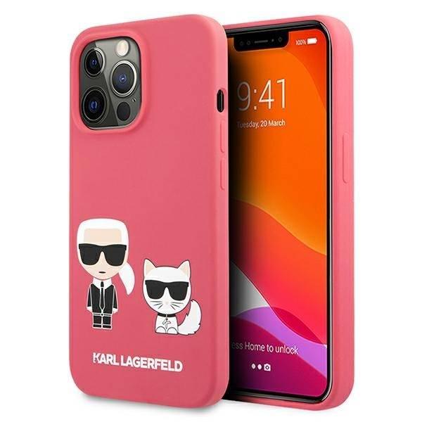 Etui KARL LAGERFELD Apple iPhone 13 Pro Silicone Karl & Choupette Różowy Hardcase