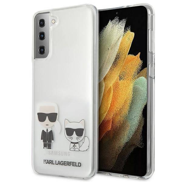 Etui KARL LAGERFELD Samsung Galaxy S21 Plus Karl & Choupette Bezbarwny Hardcase