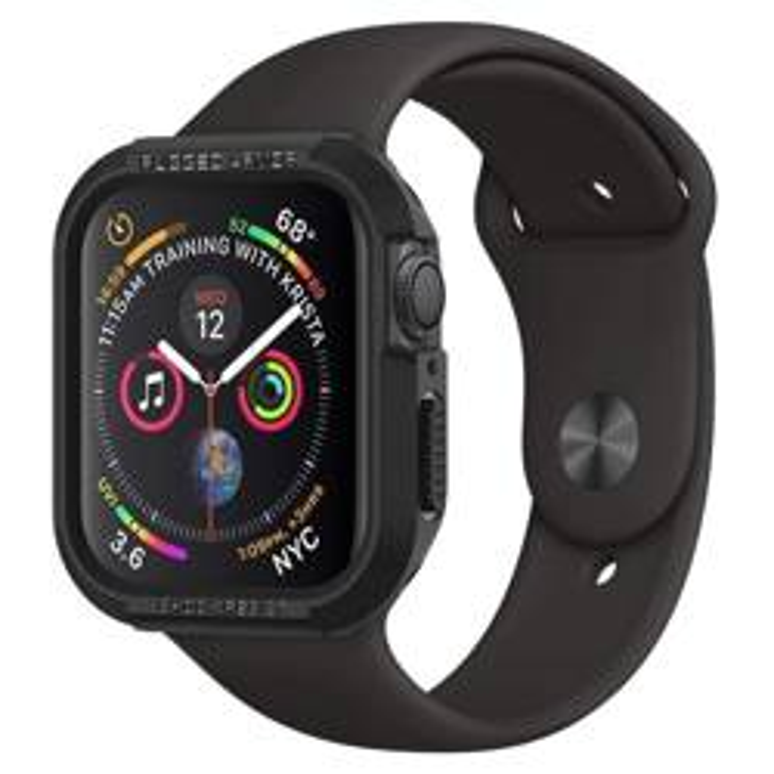 Etui SPIGEN Rugged Armor Apple Watch 4 (44mm) Black Czarne Case