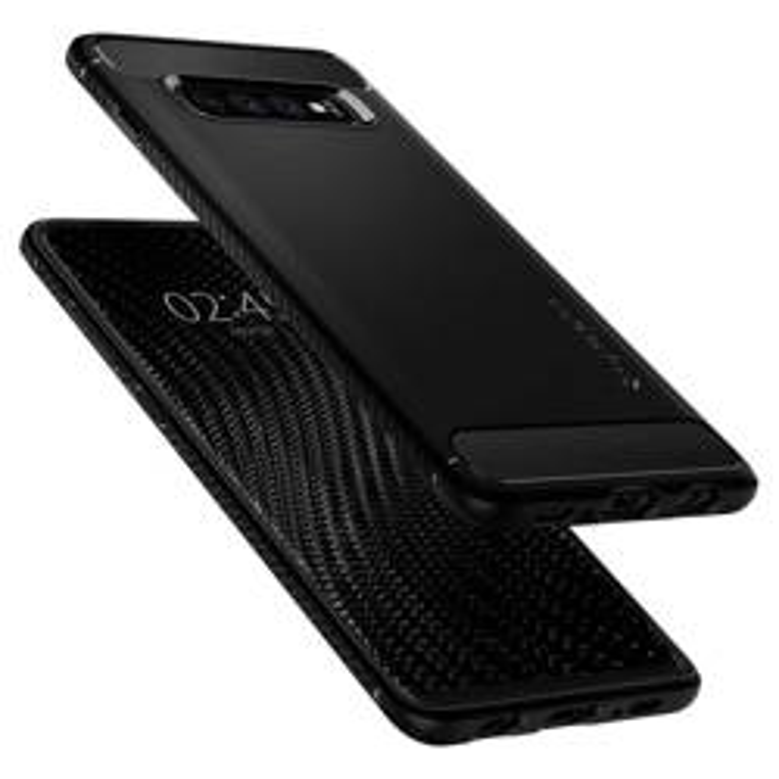 Etui Spigen Galaxy S10 Rugged Armor Samsung Czarne Case Samsung