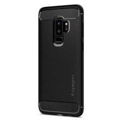 Etui Spigen Galaxy S9+ Plus Rugged Armor Czarne Case Samsung