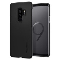 Etui Spigen Thin Fit Galaxy S9+ Plus G965 Czarne Samsung Case Pokrowiec