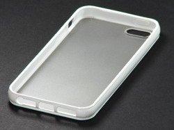 Etui iPhone 5 5S SE BIAŁE Przezroczyste