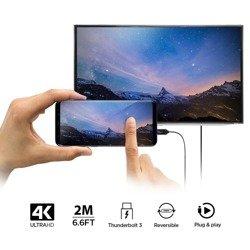 KABEL SPIGEN C20CH TYPE-C TO HDMI CABLE 200CM BLACK CZARNY