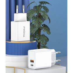 PRODA SURUI series charger adapter 20W PD+USB (EU) PD-A38 white