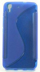 Pokrowiec S-Line Huawei Ascend Y6 Niebieski Etui Silikon