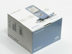 Pudełko SONY ERICSSON W350i Pudełko SE CD Kabel Sterowniki Instrukcja Niebieskie
