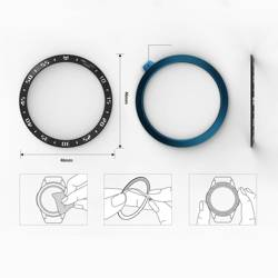 Ramka RINGKE Bezel Styling Galaxy Watch 46mm Stainless Silver Srebrna