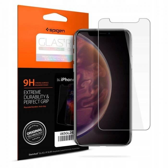 Szkło Hartowane SPIGEN GLAS.TR Slim HD Apple iPhone X XS 11 Pro