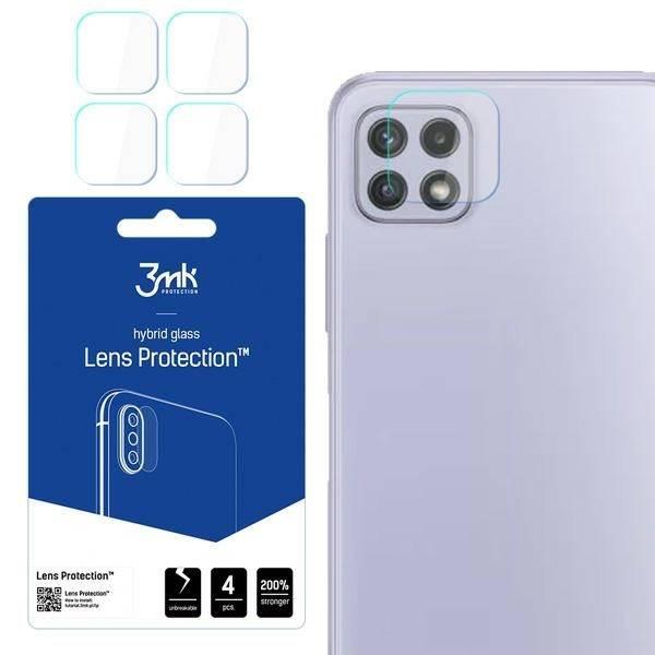 Szkło Hybrydowe 3MK Samsung Galaxy A22 4G Lens Protect Ochrona Na Obiektyw Aparatu 4szt Glass