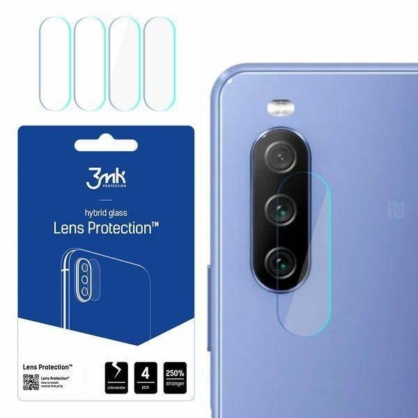 Szkło Hybrydowe 3MK Sony Xperia 10 III 5G Lens Protect Ochrona Na Obiektyw Aparatu 4szt Glass