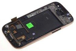WYŚWIETLACZ SAMSUNG Galaxy S3 I9300 Grade B Pęknięta Ramka Dotyk LCD Oryginalny Miedziany